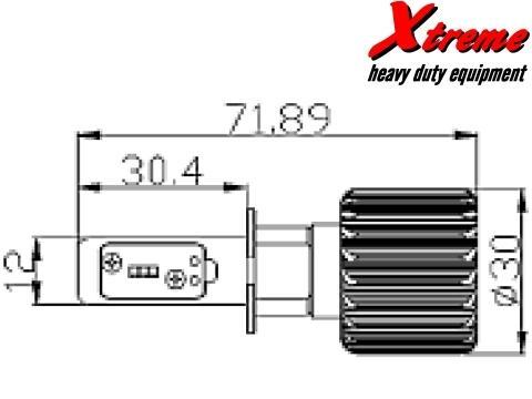 Lampade H3 LED   Xtreme G7