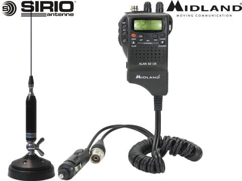 Kit 4   Radio CB Midland   Alan 42 DS   Antenna Sirio