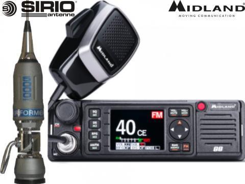 Kit Radio CB Albrecht   AE 6110   Mini Snake 27