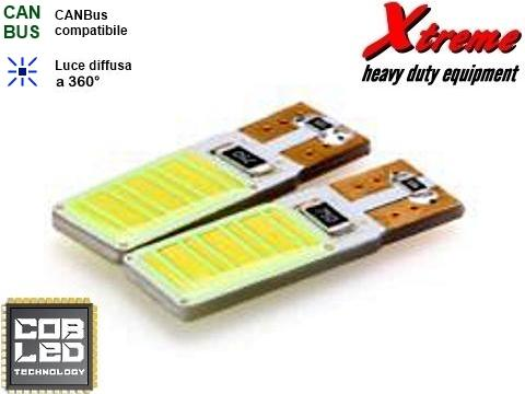 Lampada T10   COB LED 12 Chips