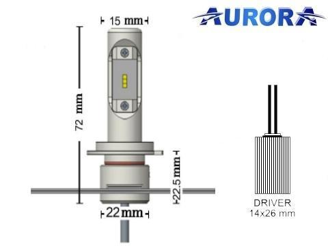 Lampade H7 LED   Aurora G10 Lumileds ZES