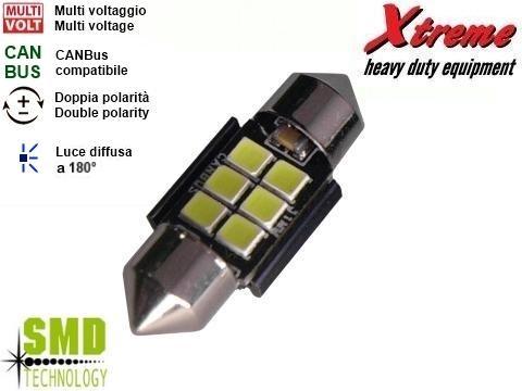 Lampada siluro   SMD 12x31 mm