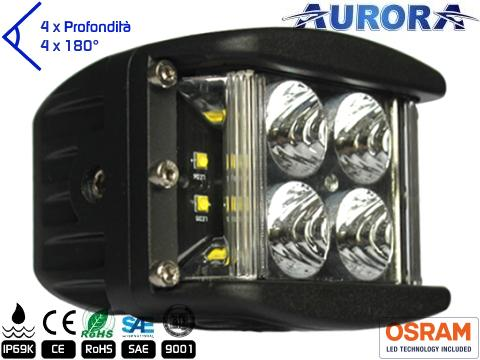 Faro LED 4000 Lumens   Super Wide 180  600 mt