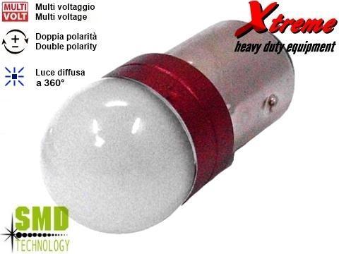 Lampada LED 3D   P21W   Rosso