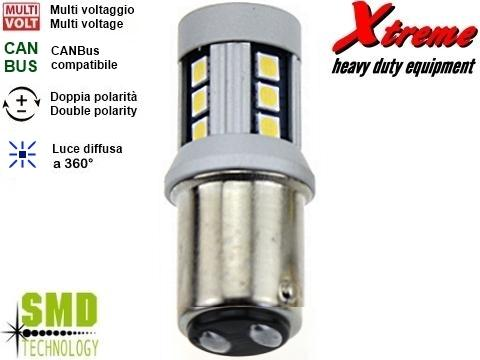 Lampada LED CANBus   P21W 5W   Rosso Biluce