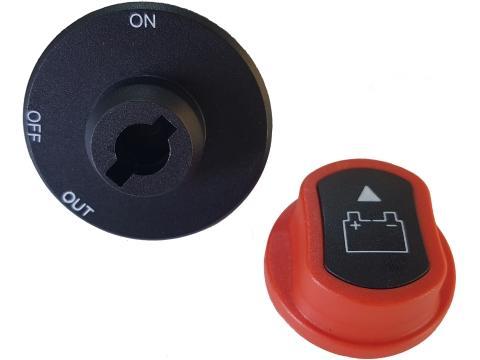 Stacca batteria 100A   con pomello estraibile