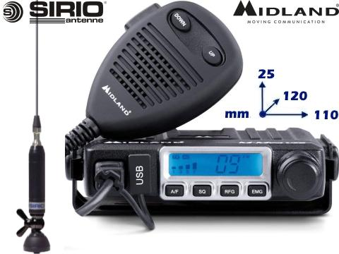 Kit 1   Radio CB Midland   M Mini   Antenna Sirio