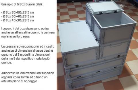 Box Euro sovrapponibile    60x40x23 5 cm